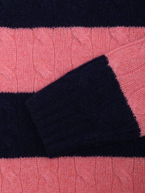 Джемпер из шерсти ажурной вязки - Деталь1