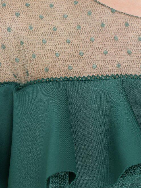 Платье-футляр с полупрозрачной вставкой - Деталь