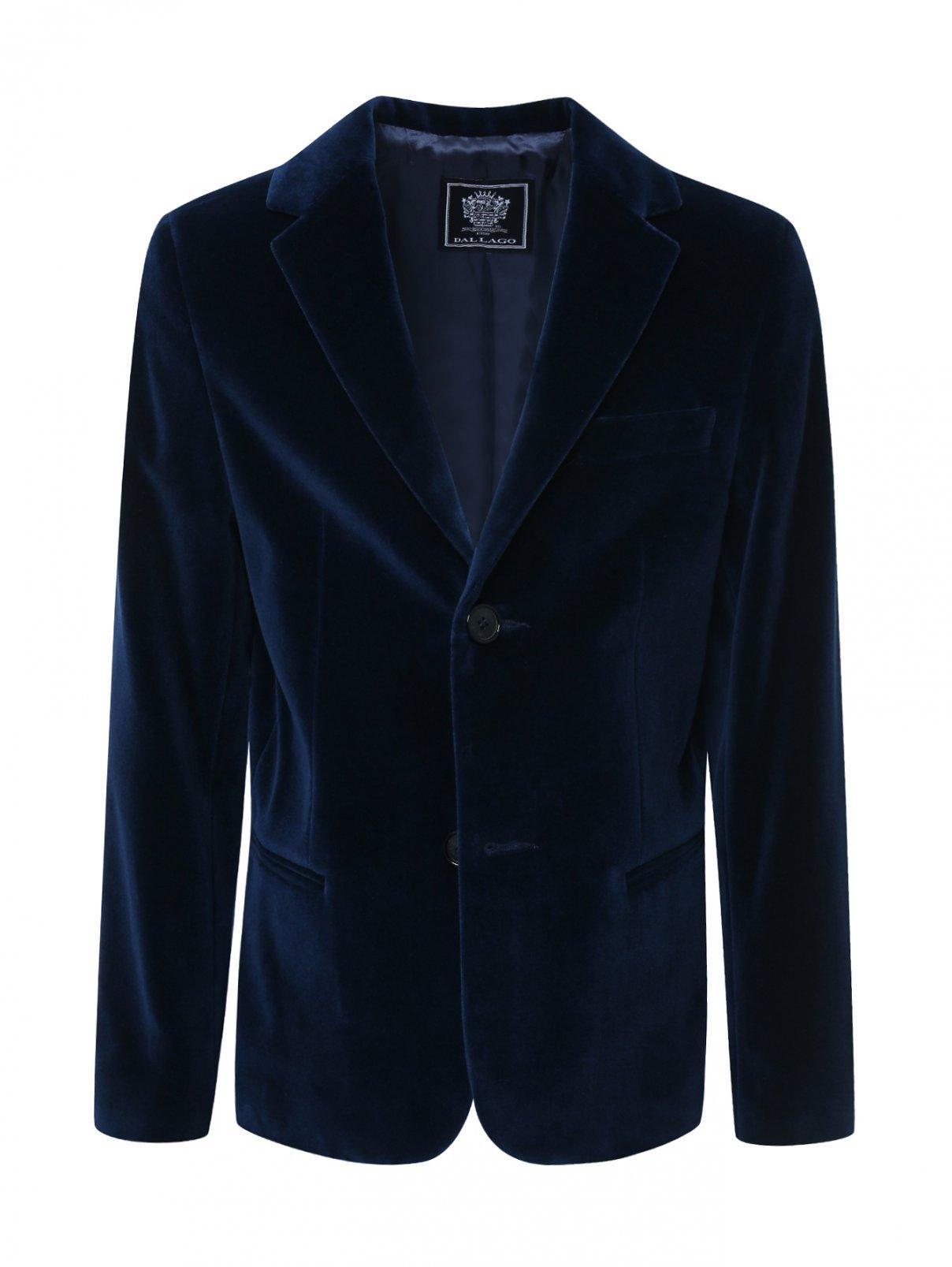Пиджак бархатный Dal Lago  –  Общий вид