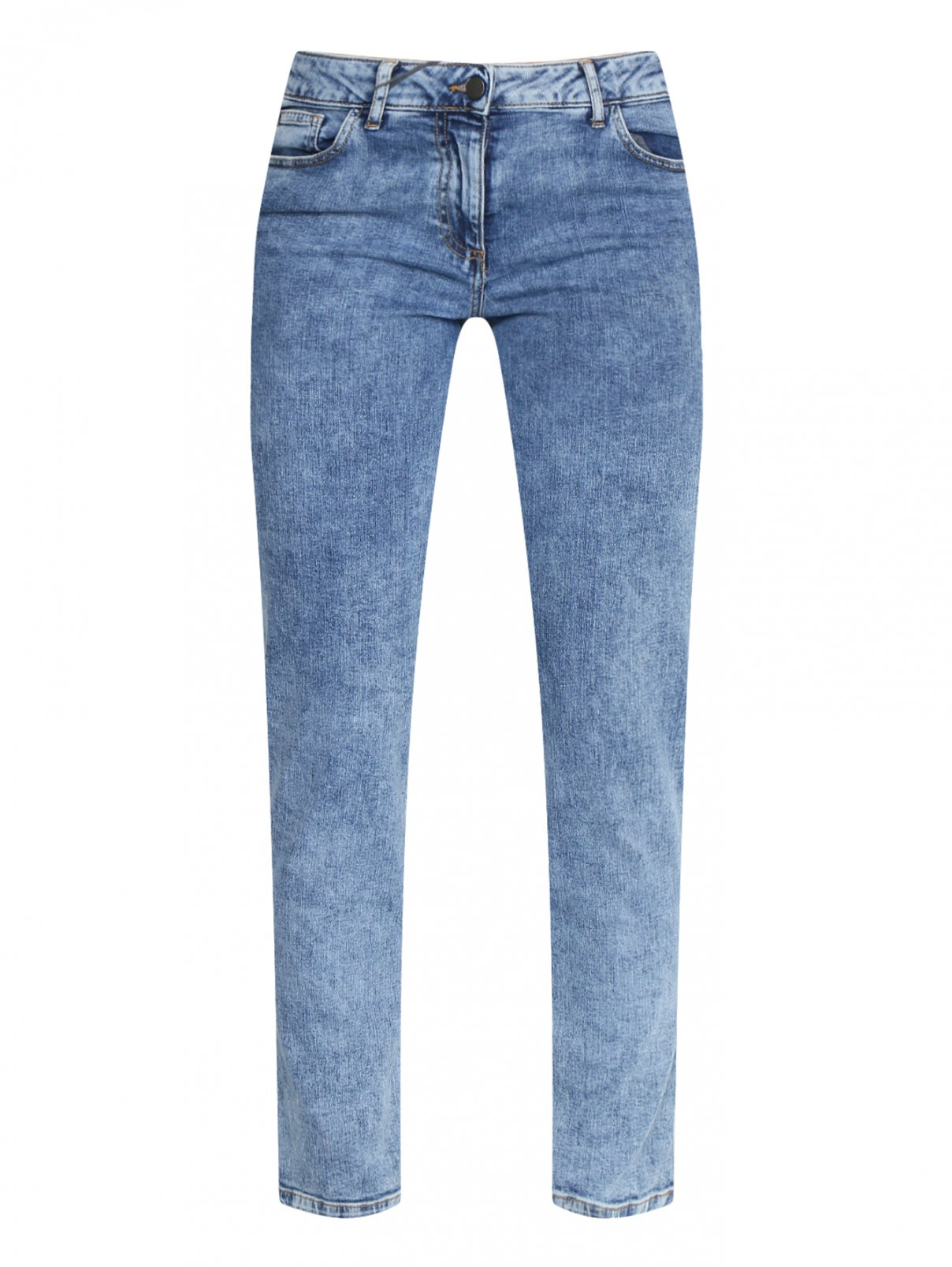 Укороченные джинсы из хлопка Persona by Marina Rinaldi  –  Общий вид